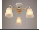 """Люстра """"рожки разн. 3"""" .. светильник потолочный 7956/3C (6) WT+FG E27 610*265"""