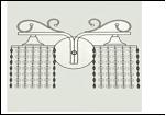 Бра 2-рожк. светильник 0142/2WN (10) AB E27 бра