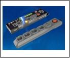 Удл.колодка 4р х  3м с з/к фильтр с предохр. и выкл. 10A UNIEL S-GSL5-3U GREY  Cетевой фильтр серии Lux, 3м (Пвс 3*0,75), 4 гнезда, , 1USB(1A). 10А. З
