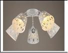 """Люстра """"рожки разн. 5"""" .. светильник потолочный 0524/5N (4) WT E27 630*230"""