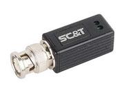 В/А TTP111VSS Приемопередатчик пассивный видеосигнала по витой паре на 600 м, имеет 1 канал под BNC, витая пара под клеммы, корпус Mini, 60х15х15 мм