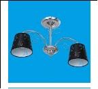 """Люстра """"рожки ретро 2"""" .. светильник потолочный 50823/2CR BK"""
