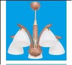 """Люстра """"рожки классик 5"""" .. светильник потолочный 5108/5GD+BR WT"""