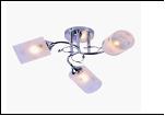 """Люстра """"рожки серебро 3"""" .. светильник потолочный 5762/3XA (6) CR E27 470*230"""