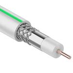 ТВ SAT-703 S/B  кабель коаксильный белый