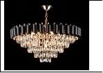 """Люстра """"хрусталь 9"""" LED-White светильник потолочный 5135/9+9E FGD+BK 540*470 E27"""