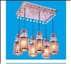 """Люстра """"фигурн.с плафон 6"""" LED-White светильник потолочный 361X/6CR LED Подвесы"""