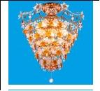 """Люстра """"хруст.на цепи 12"""" .. светильник потолочный 4582/8+4F-GD BRNk Потолочные хрусталь"""