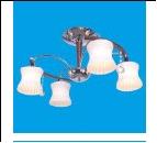 """Люстра """"рожки классик 4"""" .. светильник потолочный 91011/4CR+WD WT Потолочные еврокаркасы"""