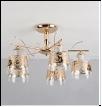 """Люстра """"рожки классик 5"""" .. светильник потолочный 11664/5 FGD+WT Люстра  E27 5x60W"""