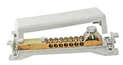 Шины распр. в корпусе Шина универсальная распределительная ШнУР 1 в корпусе 2 ввода 7 групп 160 А TDM уравнивания потенциалов 10х4-35 мм.кв 1х50 мм.кв