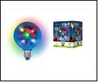 ДИСКО ШАР ULI-Q308 1,5W/RGB/E27  3D Светодиодный светильник. Свечение 3D звёзды. 220В. Диаметр 8см. ТМ Volpe., шк 5999558319373