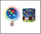 Диско- шар  ULI-Q39 1,5W/RGB ДИСКО ШАР 3D Светодиодный светильник. Свечение 3D звёзды. Вилка 22В. Диаметр 8см. ТМ Volpe., шк 5999558319397
