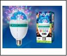Диско- лампа Светодиодный светильник-проектор ULI-Q31. Серия DISCO, многоцветный. ТМ VOLPE. Работа от сети 22В. Для установки в электропатрон Е27. Цве