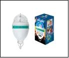 Светодиодный светильник-проектор  ULI-Q303 2,5W/RGB WHITE. Подвесной. Серия DISCO, многоцветный. ТМ VOLPE. Кабель с вилкой, 220В. Цвет корпуса - белый