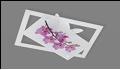 """Люстра """"модерн 4"""" .. светильник потолочный Светильник """"Сакура"""" белое-фиолетовое (орхидея)"""