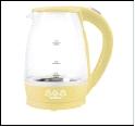 Чайник Электрический, Мощность: 1850Вт, Объем: 1.8л Мастерица ЕК-1801G стекло, ваниль [1/8]