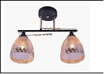 """Люстра """"рожки разн. 2"""" .. светильник потолочный 9701/2B-DA (10) BK+FGD E27 430*140*255"""