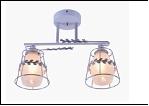 """Люстра """"рожки разн. 2"""" .. светильник потолочный 9701/2DA (10) WT+CR E27 430*140*280"""