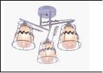 """Люстра """"рожки разн. 3"""" .. светильник потолочный 9701/3DA (6) WT+CR E27 450*280"""