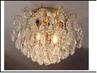 """Люстра """"хрусталь D=550"""" LED-White светильник потолочный 5934/6+6E FGD E27+LED WT 550*400  (с пультом)"""
