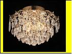 """Люстра """"хрусталь 6"""" LED-White светильник потолочный 5972/6+6E FGD E27+LED WT 550*350  (с пультом)"""