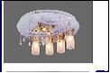 """Люстра """"фигурн.с плафон D=550"""" LED-RGB светильник потолочный 7681/4+1S (2) FGD d550 E27/MR11 RBP"""