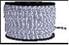 Дюралайт LED   2,0Вт белый круг  2-х жильный 36LED/м 13мм 100м (кратность резки 2м) 7000K  (100)/световая нить