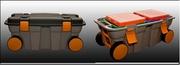 Ящик универсальный на колесах с 2 лотками и 2 боксами С-2 800*375*345 мм