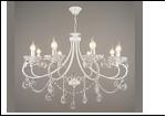 """Люстра """"ретро свечи 8"""" .. светильник потолочный 35020/8 WT E14 760*910"""