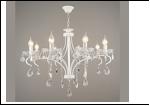 """Люстра """"ретро свечи 8"""" .. светильник потолочный 35023/8 WT E14 710*865"""
