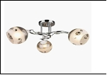 """Люстра """"рожки серебро 3"""" .. светильник потолочный 5070/3C (6) CR+WT E27 600*230"""