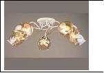 """Люстра """"рожки золото 5"""" .. светильник потолочный 5375/5C (4) WT+FGD E27 605*230"""