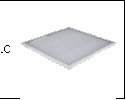 Св-к LED 595х595 унив.  50Вт 6500K бел. ECOLA 4000Лм панель LED (аналог 4х18Вт) Призма (Эпра внутри)