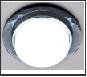 СТ пл.стекло GX53 черный-хром круг G8077 BK хром/тонированный Ambrella