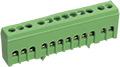Шина распр. 6х9мм   63. 12/1 в изоляторе  корпусном на DIN-рейку Шина нулевая в корпусе (не нейлоновом) на DIN 6х9 12 гр 100/125А