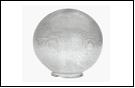 Св.улич. шар Ø250 прозрачный . светильник Е27 D=250 прозрачная огранка  оргстекло,  в комплекте с основанием из пластика ABS и керамическим патр(1/12)