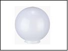 Св.улич. шар Ø350 молочно-белый светильник D=350  оргстекло,  в комплекте с основанием из пластика ABS и керамическим патроном .(1/4)