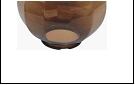 Св.улич. шар Ø300 шоколадный светильник Е27 D=300 шоколад/грани  Декоративный  оргстекло,  в комплекте с основанием из пластика ABS и керамическим пат
