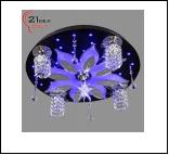 """Люстра """"фигурн.с плафон D=500"""" LED-RGB светильник потолочный 6100/5 (1) Светильник бытовой потолочный со светодиодами и дистанционным пультом (220V 15"""
