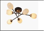 "Люстра ""модерн 740х260 .. светильник потолочный 04729/6MH (4) BK+FGD E27 630*630*180"