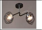 """Люстра """"рожки разн. 2"""" .. светильник потолочный 5783/2C (10) BK+CR E27 500*300*240"""