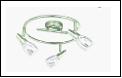 Спот ВМ378 Светильник потолочный метал+стекло E14*3 мах 40W Хром 4шт