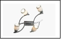 Спот 4-рожк. G9 светильник ВМ381 потолочный метал+стекло мах 40W Хром 4шт