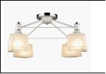 """Люстра """"рожки серебро 4"""" .. светильник потолочный 10012/4 (4) WT+CR E27 520*280"""