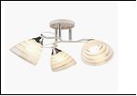 """Люстра """"рожки серебро 3"""" .. светильник потолочный 10062/3 (6) WT+CR E27 570*250"""