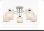 """Люстра """"рожки серебро 5"""" .. светильник потолочный 10067/5 (4) WT+CR E27 540*280"""