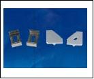 Компл. С/д  профиль UFE-N04 SILVER A POLYBAG Набор аксессуаров для алюминиевого профиля. Крепежные скобы (4 шт., сталь) и заглушки (4 шт., пластик). Ц