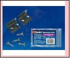 Компл. UFE-M03 NICKEL 2 POLYBAG Набор крепежных скоб для углового профиля (2 шт). Материал- алюминий, цвет никель. Упаковка-полиэтилен., шк 4690485049