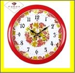"6026-131 (10) Часы настенные круг d=29см, корпус красный ""Хохлома"""
